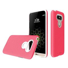 LG G5 case Toiko XGuard A sturdy beautiful protective case made of two layers perfect fit for LG G5 2016 mobile phone case TK113054 Peach Pink *** Read more  at the image link.