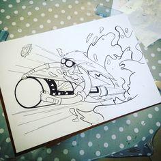 Rocketbeer 2 #illustration #art #beer #rocketgirl
