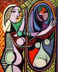 """""""Mujer frente al espejo"""" - Pablo Picasso"""