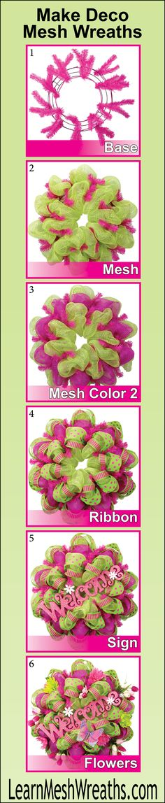 How to: Make Deco Mesh Wreaths