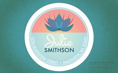 Personalized Return Address Label Sticker  Lotus by Bohtieque, $6.75