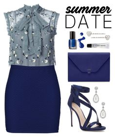 """""""Summer Date Night"""" by hafizhahtika ❤ liked on Polyvore featuring Needle & Thread, Boohoo, Imagine by Vince Camuto, Bobbi Brown Cosmetics, Carolee, summeroutfits, polyvorecontest, summerdate and summerdatenight"""