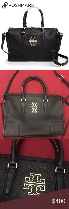 NWOT Tory Burch Britten Satchel in Black Absolutely gorgeous! Tory Burch Bags Satchels