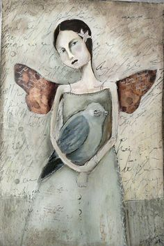 """""""I always figured we were born to fly, one way or other, so I couldn't stand most men shuffling along with all the iron of the earth in their blood. I never met a man who weighed less than nine hundred pounds.""""  ― Ray Bradbury~art by Misty Mawn"""