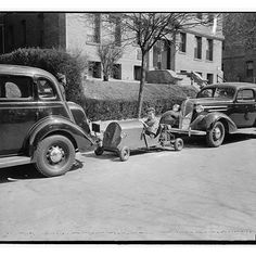 Vroom!   Photo courtesy of the Library of Congress.  #LibraryofCongress #photos #savefamilyphotos #familytree #familyhistory #genealogy #ancestry #heritage #roots #vintagephotos #bwphotos #history