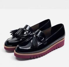 Zara  Tasseled Platform Loafers                                                                                                                                                                                 More
