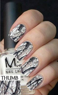 Snow camo nails :)