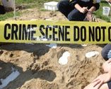 CSI Forensic science workshops for schools; Setting the crime scene