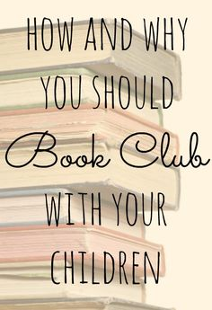 How to book club with your child, and why you absolutely need to - Julieverse