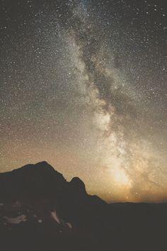 Milky Way over Pinnacle Peak