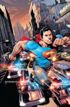 "#Superman #Fan #Art. (DC Comics, The New 52! Action Comics. ""Superman Versus the City of Tomorrow"" Vol.2#1 Cover) By: Rags Morales & Brad Anderson. ÅWESOMENESS!!!™ ÅÅÅ+"
