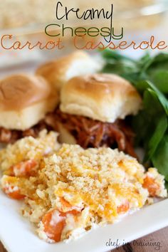Creamy Cheesy Carrot Casserole… one of THE BEST side dishes you will ever make!