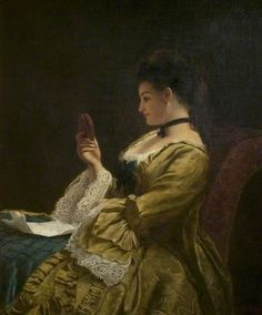 The Miniature - William Powell Frith New Walk Museum & Art Gallery, Leicester Arts and Museums Service Aberdeen Art Gallery, Quill And Ink, William Powell, Museum Art Gallery, Royal Academy Of Arts, Victorian Art, Victorian Ladies, Rococo Style, Art Uk