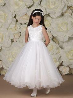 Diamond White Silk Lace First Communion Dress Christie
