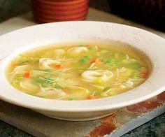 Tortellini Soup with Carrots, Peas & Leeks Recipe