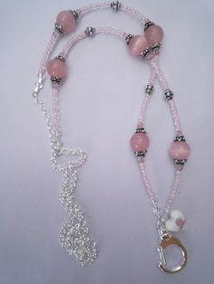 Beautiful Lanyard, our Breast Cancer Beaded Lanyard - it's back in our store.  www.lanyardelegance.com