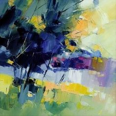 Hervé LENOUVEL artist painter - Brittany - exhibitions galleries #LandscapeArtists Abstract Landscape Painting, Abstract Drawings, Landscape Art, Landscape Paintings, Abstract Art, Tree Art, Contemporary Paintings, Artist Art, Painting Inspiration