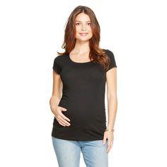 Maternity Scoop Neck Short Sleeve Tee - Black XL - Liz Lange for Target, Women's