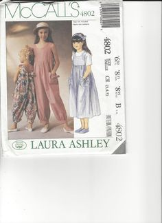 McCall's Laura Ashley Pattern 4802 sizes 3-4-5 UNCUT by SewingasaHobby on Etsy