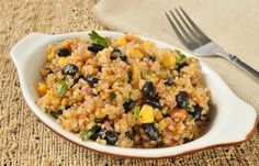 Slow Cooker Gluten Free Mexi Quinoa and Beans - Packed with Protein!  YUM!  www.GetCrocked.com
