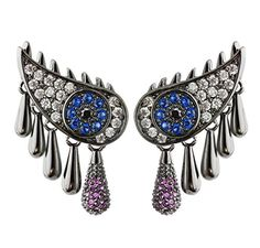 CIShop Evil Eyes CZ Diamond Stud Earrings Gothic Punk Ear Climber Hypoallergenic 1 Pair *** Be sure to check out this awesome product. Note: It's an affiliate link to Amazon.