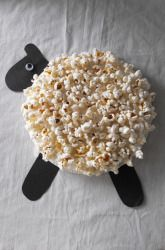 Craft an Easter Lamb (with popcorn!)