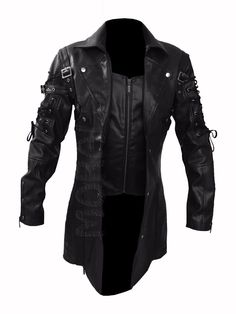 MATRIX TRENCH COAT, Red Black Leather Jacket, Gothic Van Helsing | eBay