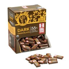 Equal Exchange Chocolate Minis Display Box | Equal Exchange www.worldlygoods.org #fairtrade #chocolate