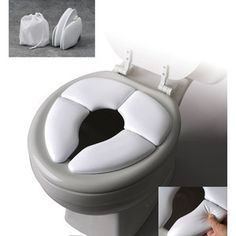 Mommy's Helper - Cushie Travel Potty Seat - potty training must have. Store/restaurant toilet openings are to big for little butts.