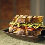 Roasted Vegetable Panini - very healthy meal!