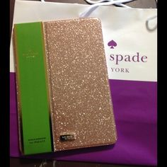 Kate Spade case for iPad air2 Beautiful Kate Sade Rose Gold Glitterbug Bifold Hardcase for iPad Air 2. kate spade Accessories Tablet Cases
