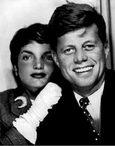 JFK and Jackie in a photobooth, c 1953