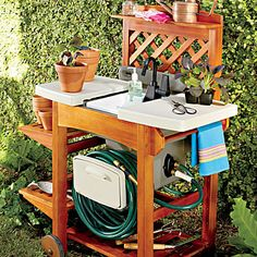 outdoor garden sink totally genius i love it with the wood work station - Outdoor Garden Sink