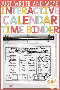 Interactive Calendar Time Binder (with Spanish version)