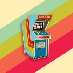 "59 Likes, 6 Comments - Pinsanity (@pinsanityusa) on Instagram: ""Retro Arcade Enamel Pin by Pinsanity!"""