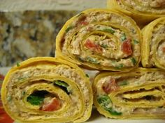 Chicken Enchilada Dip Roll Ups