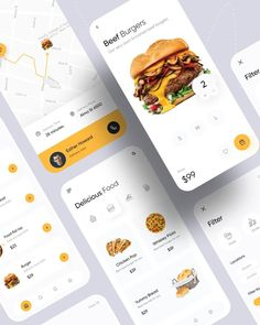 Pizza Burgers, Beef Burgers, Pizza Delivery App, Chicken Pop, Delivery Man, Ui Kit, Marketing Tools, Ux Design, Scale