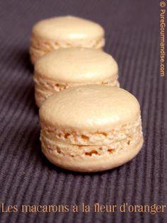 Macarons à la fleur d'oranger | by puregourmandise.com