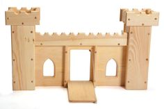 Natural Wooden Toy Fairy Tale Castle Elves and Angels