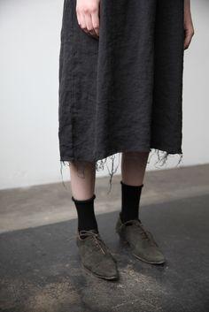 Irina Linen Dress - Black | Ovate