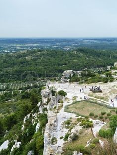 Ruins of the castle of Baux, Provence, France