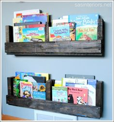 Wall Mounted Book Shelves Are Decorative, Easy To Build And Encourage Reading!