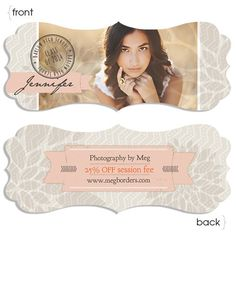 Luxe Senior Ornate Rep Card - a mix of modern and vintage of all things pretty - tape banners, chevron, stamps, flower petals overlays :)...  perfect fit for senior reps and studio referral programs - http://store.millerslab.com/collections/ew-couture/products/luxe-senior-ornate-rep-card#