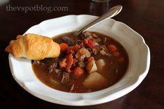 The V Spot: Wine marinated Beef Stew. mmm mmm good.