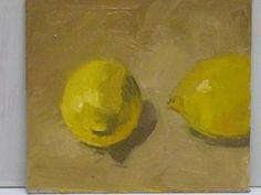 Lemons 15.5/ 14cm.original oil painting