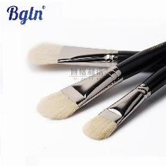 LEVEL 9pcs Round Tip Soft Bristle Acrylic Oil Painting Brush Black Wooden Handle Watercolor Paint Brush Set