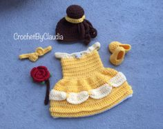 Crochet Sleeping Beauty Inspired Dress por CrochetByClaudia en Etsy