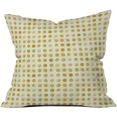 Dot & Bo Dottie Throw Pillow - Pillow Cover Only ($31) ❤ liked on Polyvore featuring home, home decor, throw pillows, polka dot home decor, metallic throw pillows and polka dot throw pillow