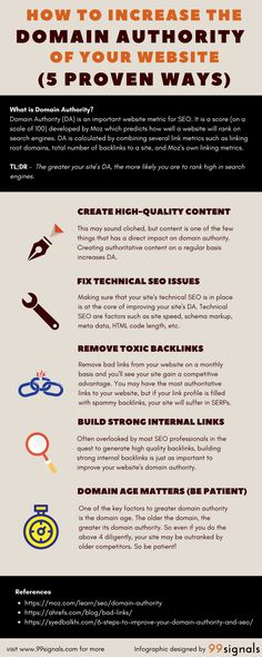 How to Increase Domain Authority (DA) of Your Website (5 Proven Ways) - Infographic
