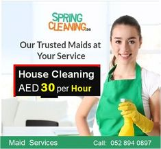 Hire Spring Cleaning Maids for ● Full time ● Part Time ● Monthly ● Live in / Live out ● Babysitting / Nannies ● Home ● Office Cleaning ✅ Book Online www.springcleaning.ae Call Now 052 894 0897 #SpringCleaning #CleaningCompanyDubai #MaidServices #Housekeeping #Cleaningservices #DeepCleaning #HouseCleaning #OfficeCleaning #SofaCleaning #CarpetCleaning #Professional #Reliable #Homemaids #residentialcleaning #villacleaning #apartmentcleaning #UAE #Dubai #AbuDhabi #Monthlymaids #babysitter #Nanny Deep Cleaning Services, Commercial Cleaning Services, Cleaning Companies, Apartment Cleaning, Office Cleaning, Apartment Office, House Maid, Cleaning Maid, Professional House Cleaning
